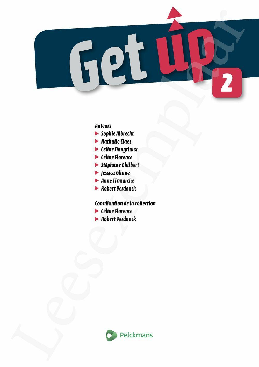 Preview: Get up 2 Livre de l'élève (Pelckmans Portail inclus)