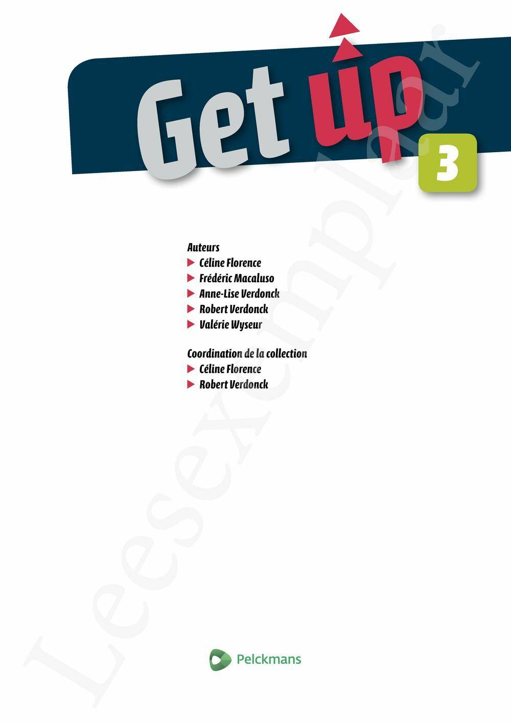 Preview: Get up 3 Livre de l'élève (Pelckmans Portail inclus)