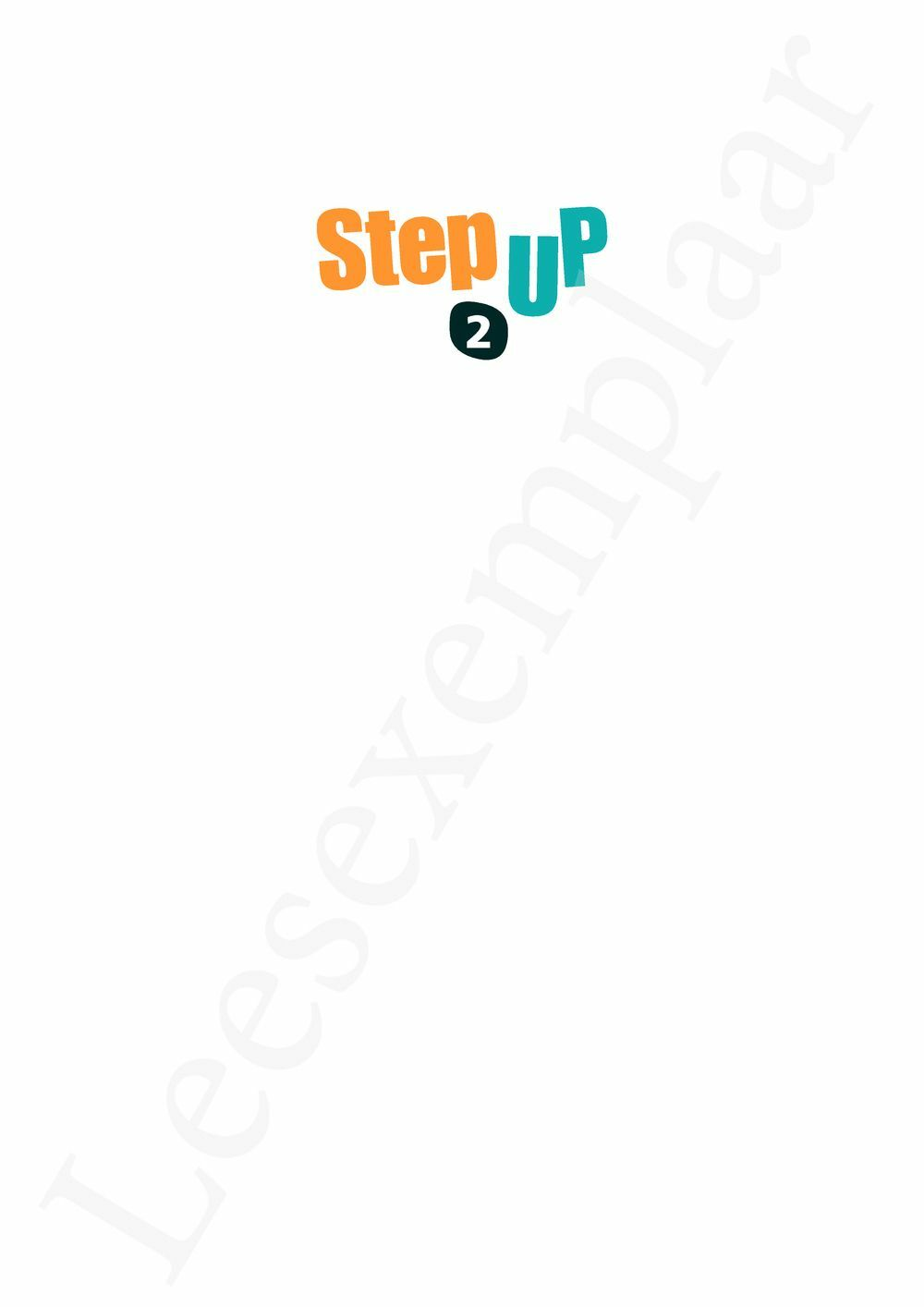 Preview: Step up 2 Livre de l'élève