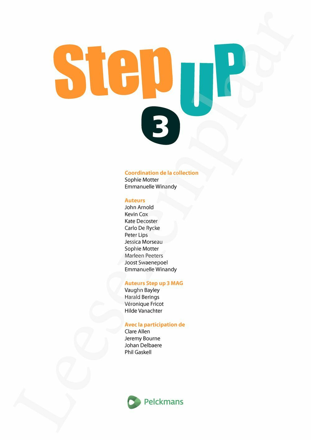Preview: Step up 3 Livre de l'élève