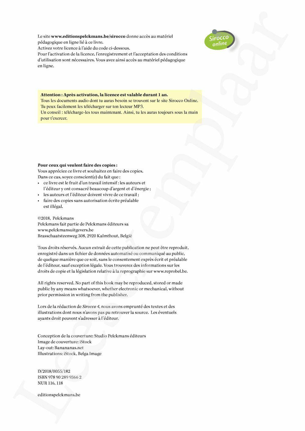 Preview: Sirocco 4 Livre de l'élève (Pelckmans Portail inclus)