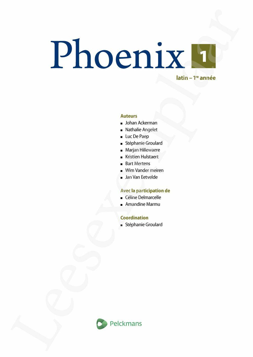 Preview: Phoenix 1 Livre de l'élève (Livret de vocabulaire, Dossier culturel, Pelckmans Portail inclus)
