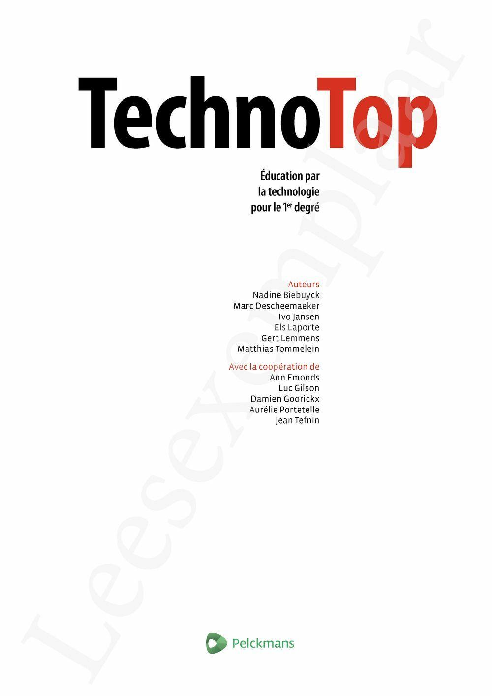 Preview: TechnoTop Livre de l'élève (Dossier et Pelckmans Portail inclus) (édition 2020)